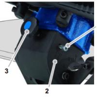 Setting width of beveling machine